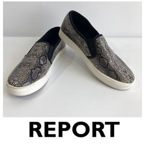 Report Snake Print Slip On Sneaker Shoes